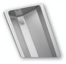 AUL 05 závesný nerezový umývací žľab s guľatými vnútornými rohmi