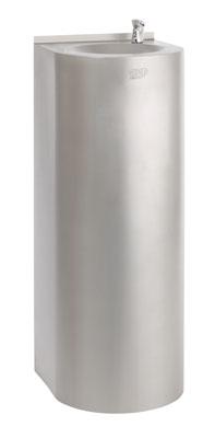 AFO 01.S nerezová pitná fontánka s tlačným ventilom na postavenie ku stene