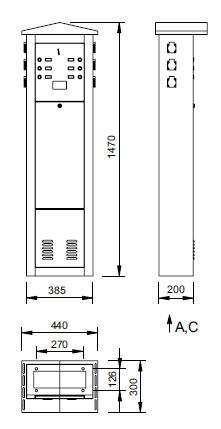 Schéma - MSE2 P Výdajné stĺpy pre platený odber elektriny a vody