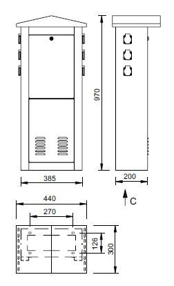 Schéma - MSE2 N výdajné stĺpy pre odber elektriny (vrátane el.istenia)